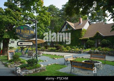 The Ivy Manor Inn, Bar Harbor, Maine, USA. - Stock Image