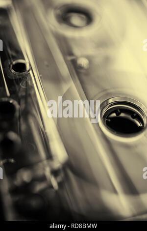 Still life of an audio cassette - Stock Image
