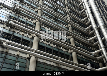 Lloyd's building exterior with massive - Stock Image