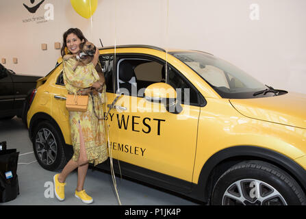 Celebs attend Women for Women International #SheInspiresMe Car Boot Sale - press preview & photocall  Featuring: Jasmine Hemsley Where: London, United Kingdom When: 12 May 2018 Credit: Phil Lewis/WENN.com - Stock Image
