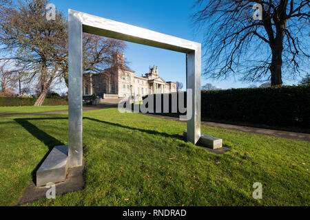 Gate sculpture by William Turnbull at Scottish National Gallery of Modern Art - Two, in Edinburgh, Scotland, UK - Stock Image