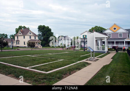 Site of the Wright Brothers home in Dayton, Ohio, where they lived while creating the first airplane. - Stock Image