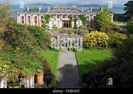 Beautiful panorama of Bantry House and Gardens with Bantry Bay in the background.County Cork,Ireland. - Stock Image