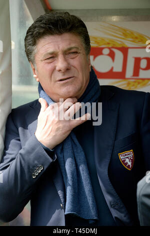 Turin, Italy. 14th Apr, 2019.  Serie A football, Torino versus Cagliari; Walter Mazzarri of Torino FC Credit: Action Plus Sports Images/Alamy Live News - Stock Image