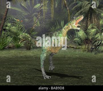 dinosaur aucasaurus - Stock Image