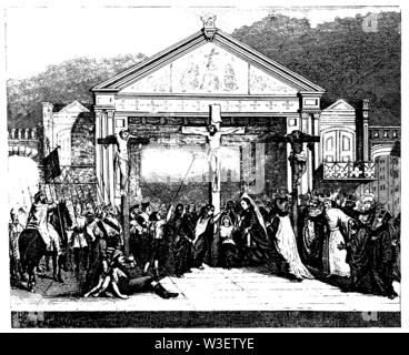 Passion play in Oberammergau, ,  (cultural history book, 1875) - Stock Image