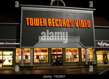 Tower records Store, Annapolis Md - Stock Image