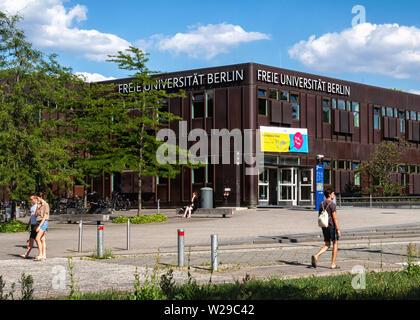 Freie Universität Berlin. Buildings of the  FU Free University, Dahlem-Berlin - Stock Image
