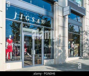 Jigsaw,Mens,Womens,Clothes Store,King's Boulevard,Kings Cross,London,England - Stock Image