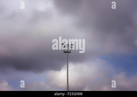 lamp post sky - Stock Image