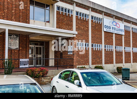 GREENSBORO, NC, USA-2/14/19: The Buena Vista Lodge #21 of the Odd Fellows, Independent Order of Oddfellows. - Stock Image