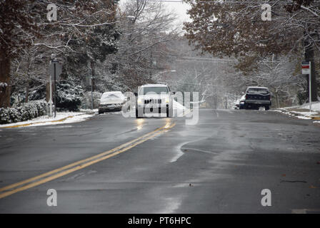 winter scenic, in Greenbelt, Maryland - Stock Image