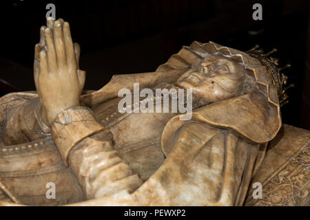 UK, Cumbria, Appleby, St Lawrence's Church, Alabaster Monument to Margaret, Countess of Cumberland - Stock Image