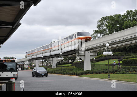 Monorail in Walt Disney World Resort, Orlando, Florida, USA - Stock Image