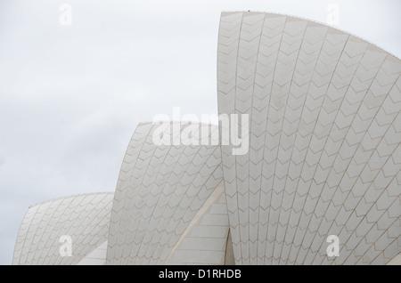 SYDNEY, Australia - SYDNEY, Australia - Close crop of the distinctive sails of the roof of the Sydney Opera House, - Stock Image