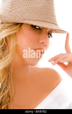 young female looking at camera - Stock Image