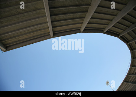 Looking up at the concrete overhang of Tradition Field baseball stadium, Port St. Lucie, FL, USA - Stock Image