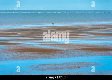 Old Hunstanton beach at low tide on North Norfolk coast, East Anglia, England, UK. - Stock Image
