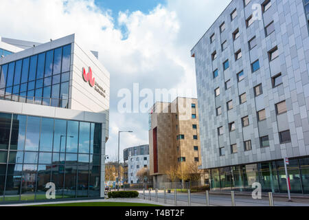 VIews of the campus at The University of Bedfordshire in Luton, UK - Stock Image
