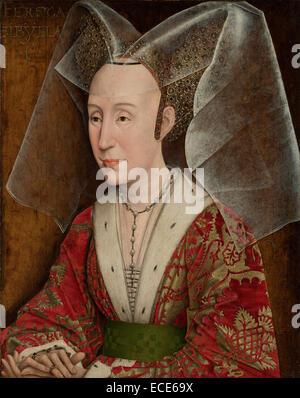 Portrait of Isabella of Portugal; Workshop of Rogier van der Weyden, Netherlandish, 1399/1400 - 1464; Netherlands, - Stock Image