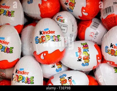 Kinder Surprise chocolate eggs - Stock Image