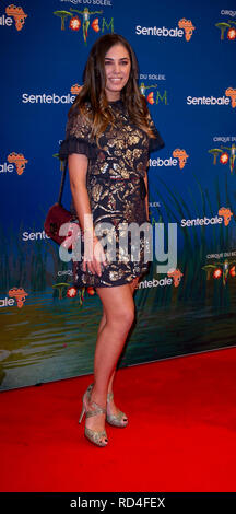 London, United Kingdom. 16 January 2019. Amber Le Bon arrives for the red carpet premiere of Cirque Du Soleil's 'Totem' held at The Royal Albert Hall. Credit: Peter Manning/Alamy Live News - Stock Image