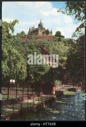 GERMANY - CIRCA 1968: A postcard printed in Germany, shows a Wernigerode Castle, circa 1968 - Stock Image