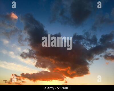 Clouds at sunset - Stock Image