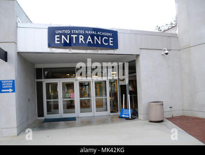 United States Naval Academy entrance in Annapolis, md - Stock Image