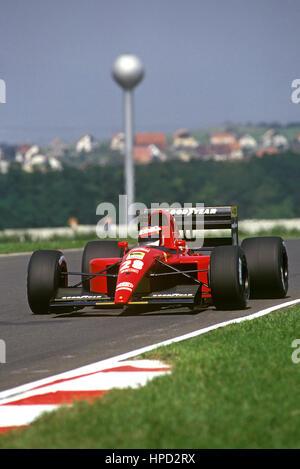 1991 Jean Alesi French Ferrari 643 Hungaroring Hungary GP 5th - Stock Image