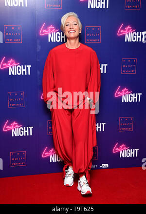 Emma Thompson attending the Late Night event in association with The Guilty Feminist at Picturehouse Central, London. - Stock Image