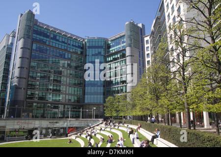 PaddingtonCentral office and residential development Sheldon Square London - Stock Image