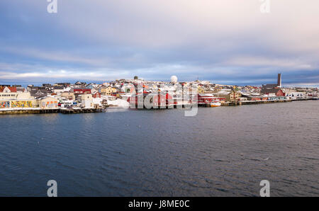 Vardø is a town in Finnmark County in the far north-eastern part of Norway. - Stock Image