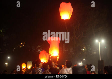 Pune, India - November 2018: Ever since Chinese product infiltration over the world, chinese lanterns also have not spared the Indian way of celebrati - Stock Image