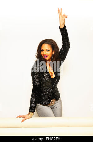 Alesha Dixon photographed at the MTV studios in Camden London in February 2008. - Stock Image