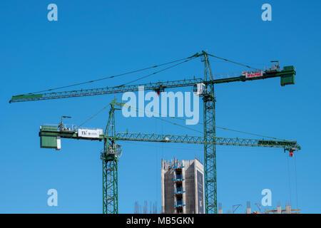 Construction cranes Birmingham UK - Stock Image