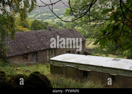 Abandoned renovation project in Herefordshire illustrating rural economic decay - Stock Image