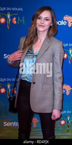 London, United Kingdom. 16 January 2019. Hannah Tointon arrives for the red carpet premiere of Cirque Du Soleil's 'Totem' held at The Royal Albert Hall. Credit: Peter Manning/Alamy Live News - Stock Image