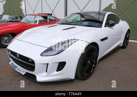 Jaguar F-Type 5.0 V8 R (2014), British Marques Day, 28 April 2019, Brooklands Museum, Weybridge, Surrey, England, Great Britain, UK, Europe - Stock Image