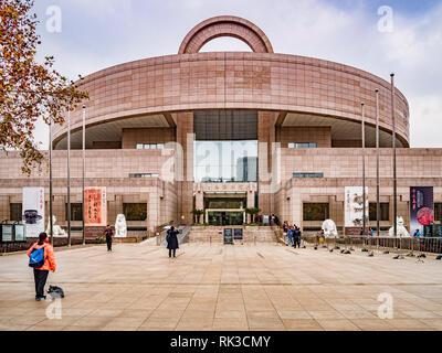 2 December 2018: Shanghai, China - The Shanghai Museum main entrance. - Stock Image