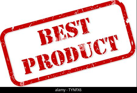 Best product red rubber stamp vector isolated - Stock Image