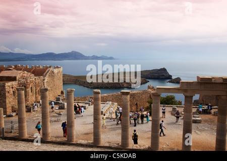 Greece island Rhodes Lindos - Stock Image