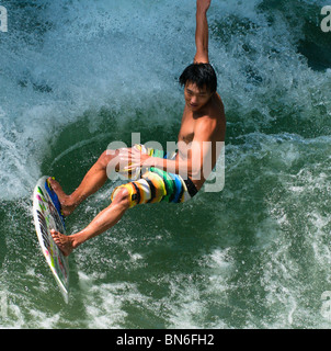 Surfer up close - Stock Image