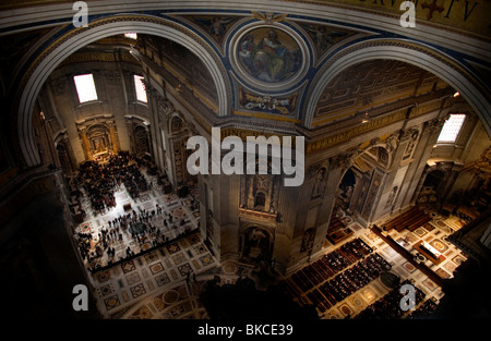 A view of St. Peter's Basilica in Vatican City, Rome, Italy, March 9, 2008. Photo/Chico Sanchez - Stock Image