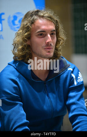 Attendees during the UNICEF Kid Power during Miami Open 2019 at Hard Rock Stadium in Miami Gardens, Florida  Featuring: Stefan Tsitsipas Where: Miami Gardens, Florida, United States When: 19 Mar 2019 Credit: Johnny Louis/WENN.com - Stock Image