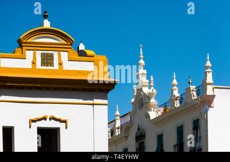 Different styles of Spanish architecture in Seville - Stock Image