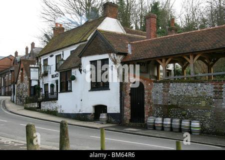 Black Boy Inn, Winchester, Hampshire, UK - Stock Image