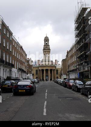 St Mary's Church London Wyndham Place York St London - Stock Image