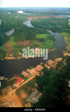 Aerial View of Iquitos Town, Amazon Jungle, Peru - Stock Image