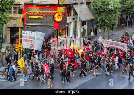 Manifestation, Thessaloniki, Greece - Stock Image